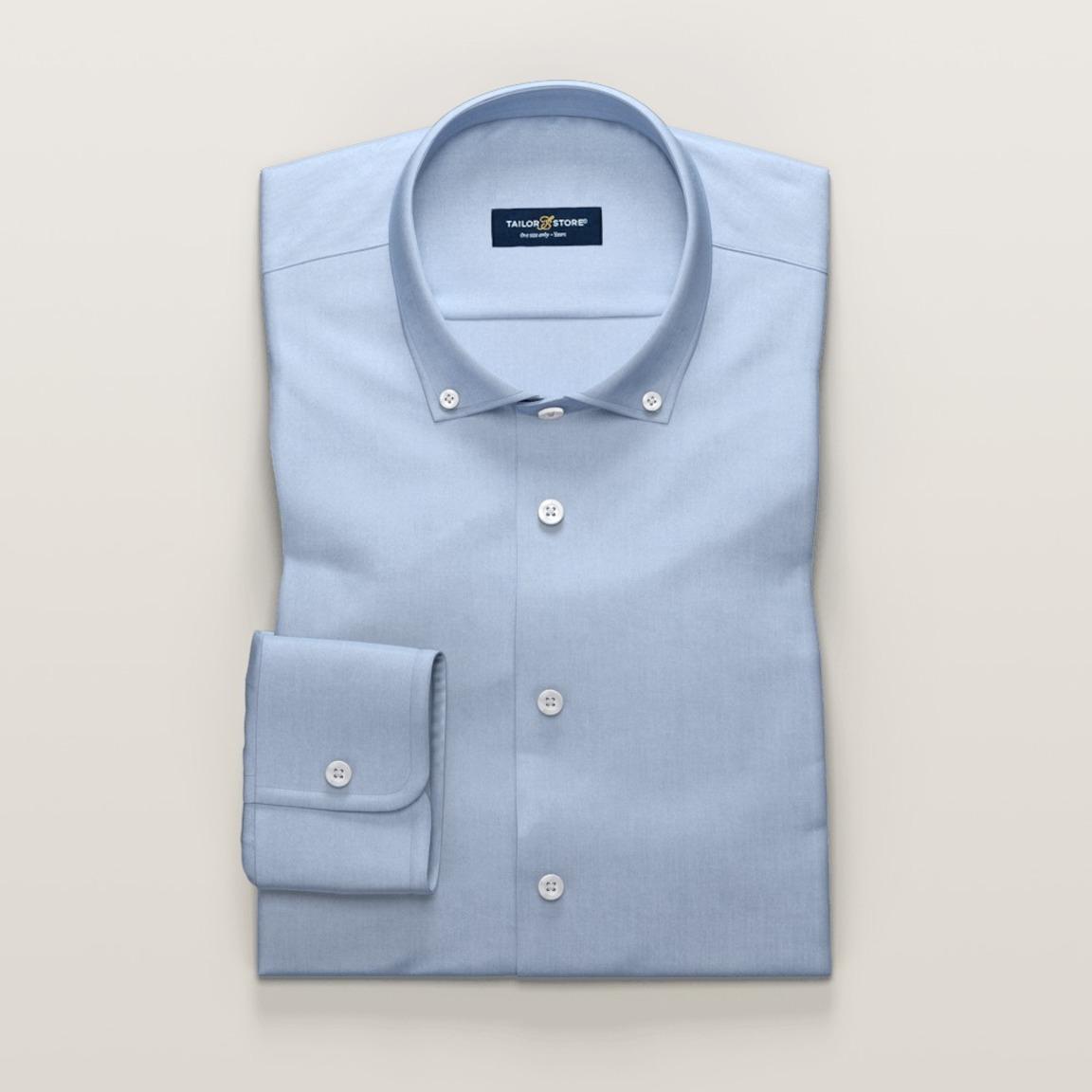Hellblaues Hemd aus Baumwoll-Tencel-Twillstoff