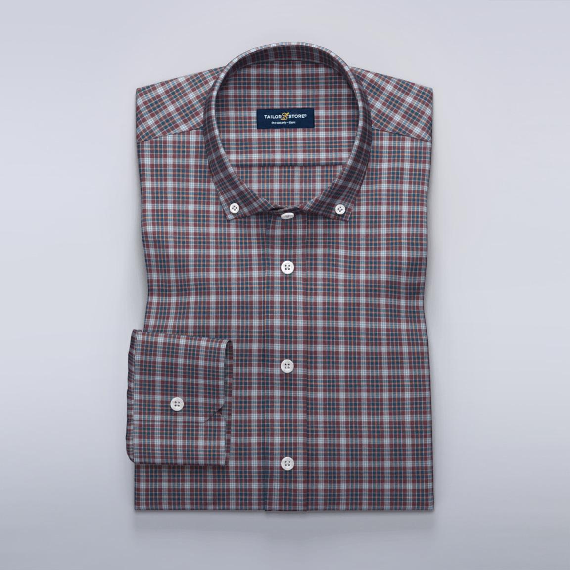Rutig casual skjorta i twill