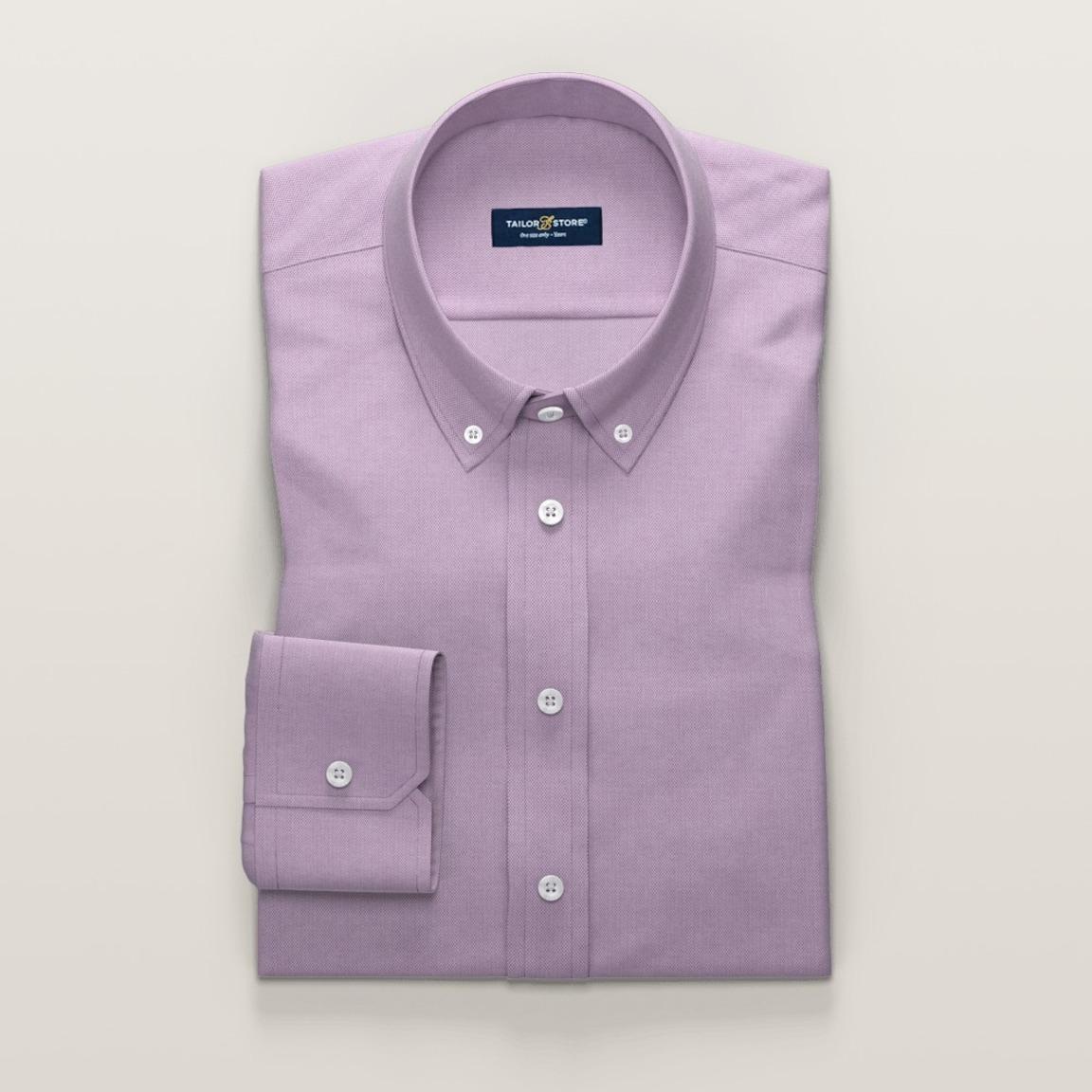Fioletowa koszula o splocie drobnowzorzystym