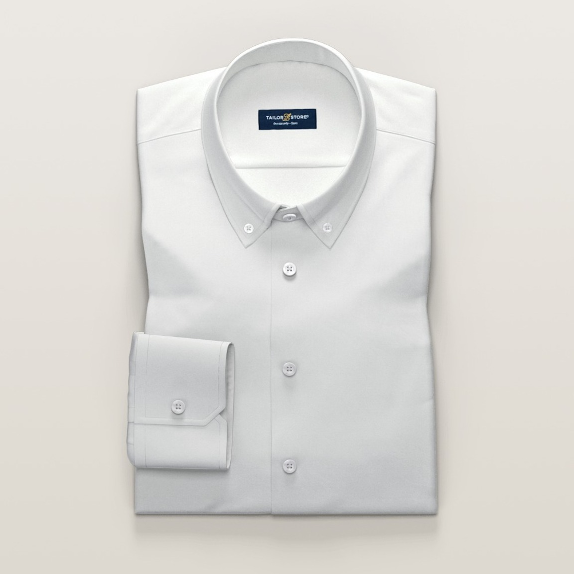 Ivory business dress shirt in dobby weave