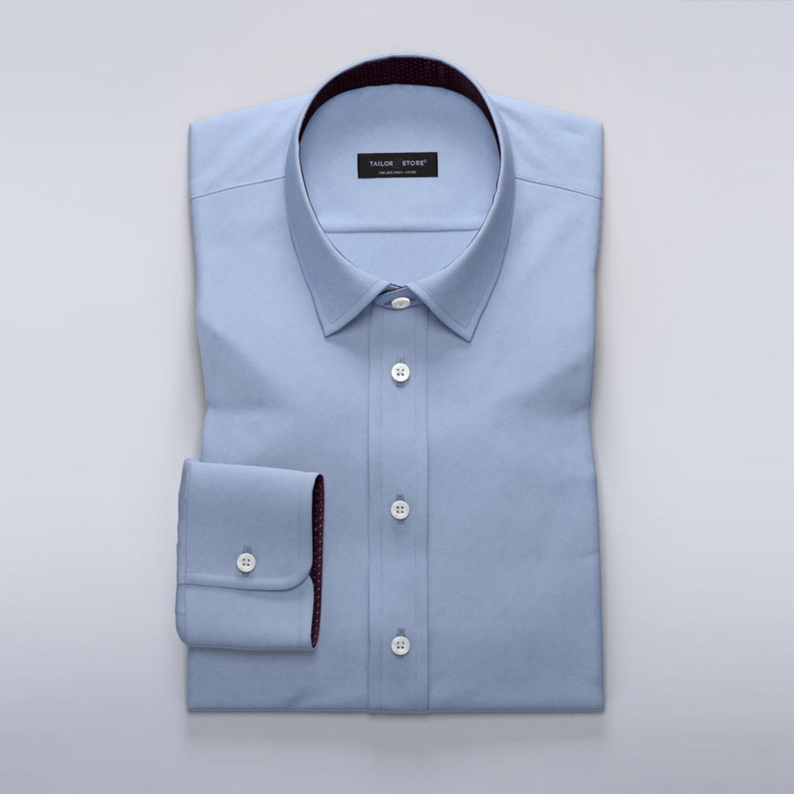 Satängskjorta med blue daisy mönstrade kontraster