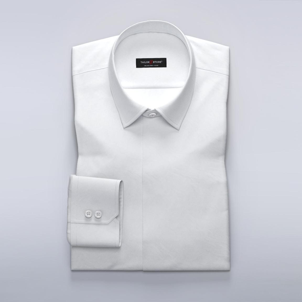 Business-Hemd für Damen aus weißem Stretch-Twill
