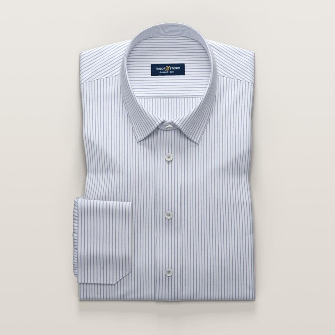 Men's shirt - Park row, white and blue