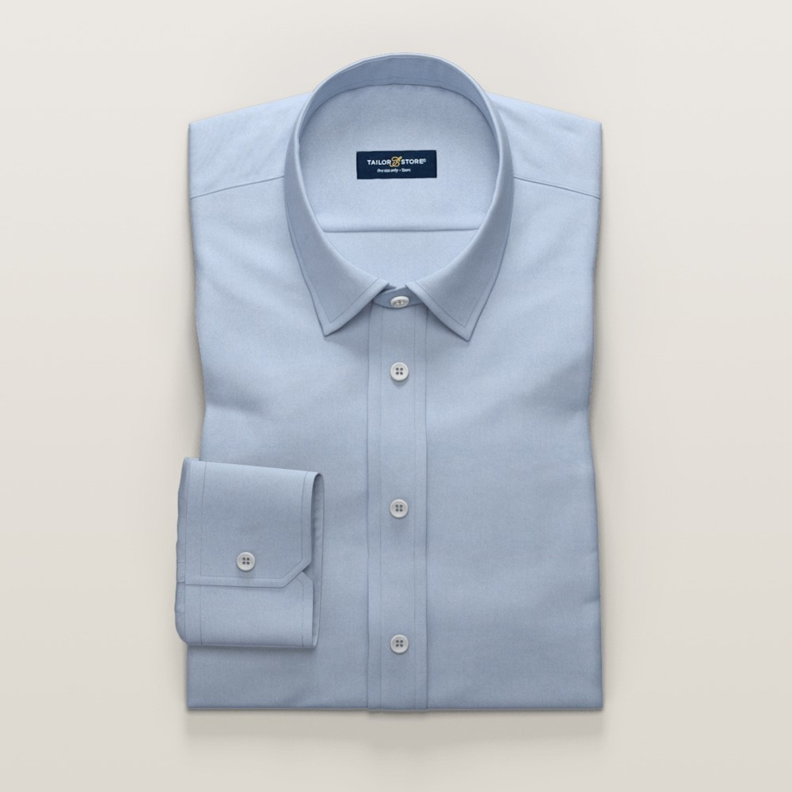 Non Iron business shirt in light blue