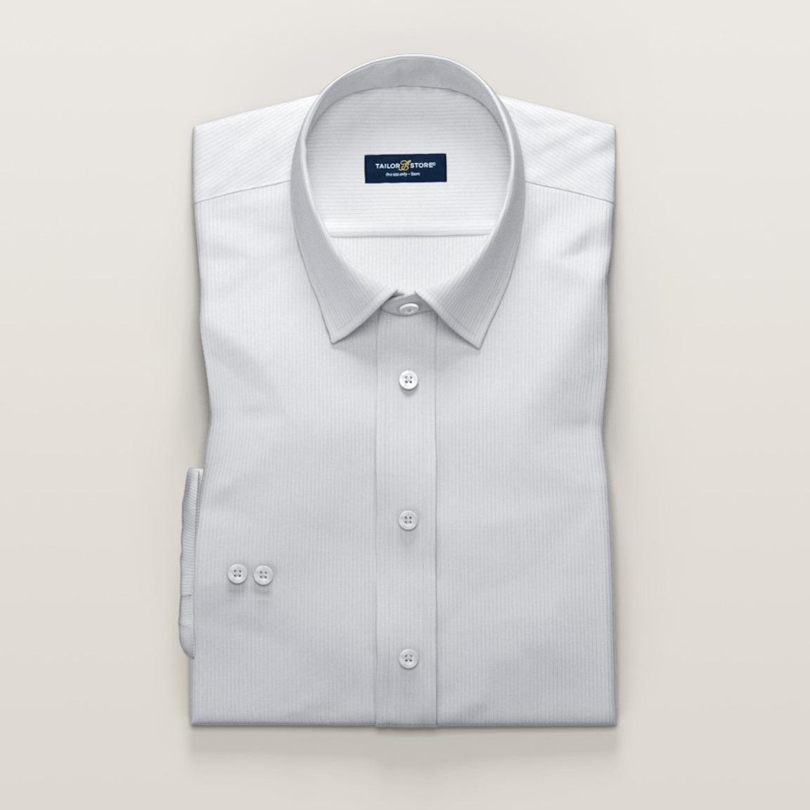 Hvid business-skjorte til kvinder i luksuriøs dobby-vævning