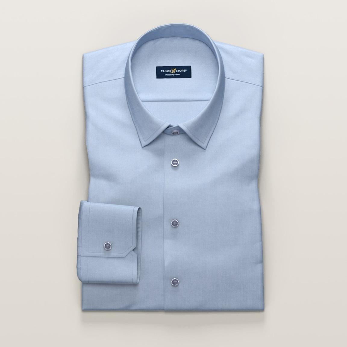 Bügelfreies Business-Hemd aus hellblauem Twill