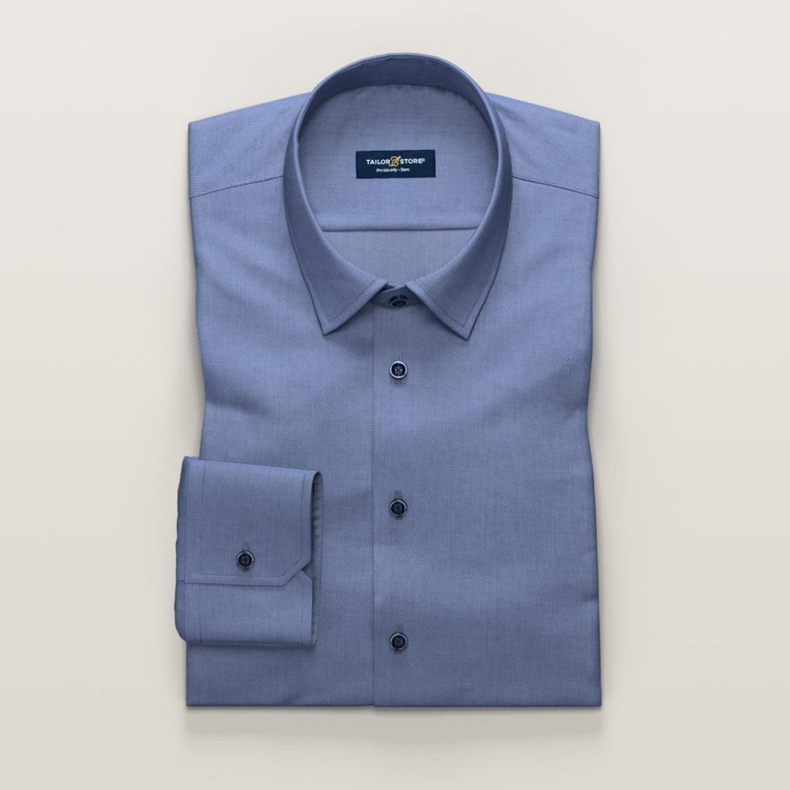 Business-skjorte i mørkeblå twill til dame
