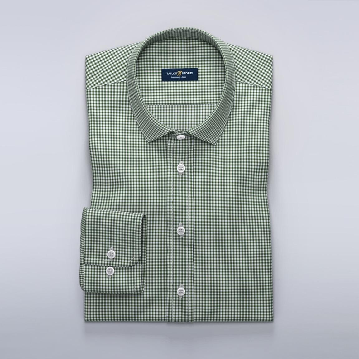 Grönrutig businesskjorta
