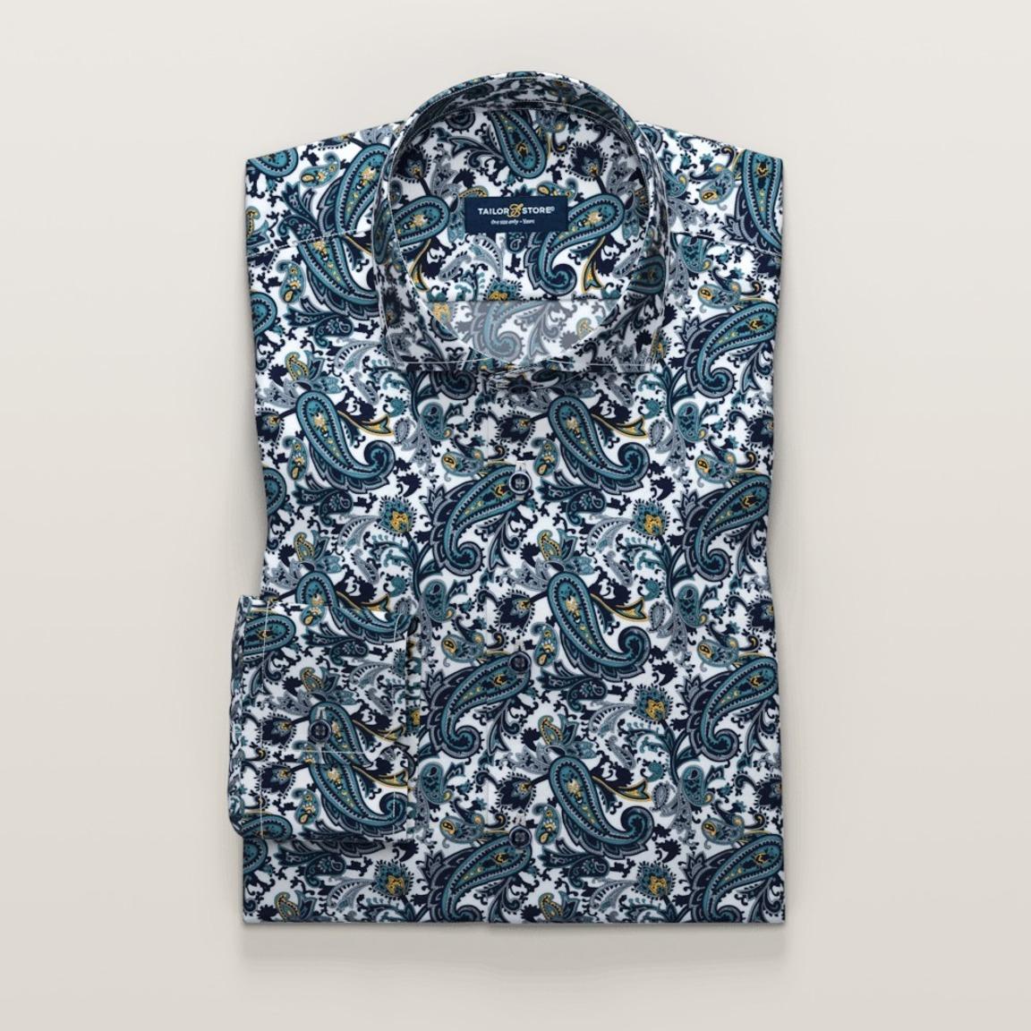 Dunkelblau bedrucktes Hemd