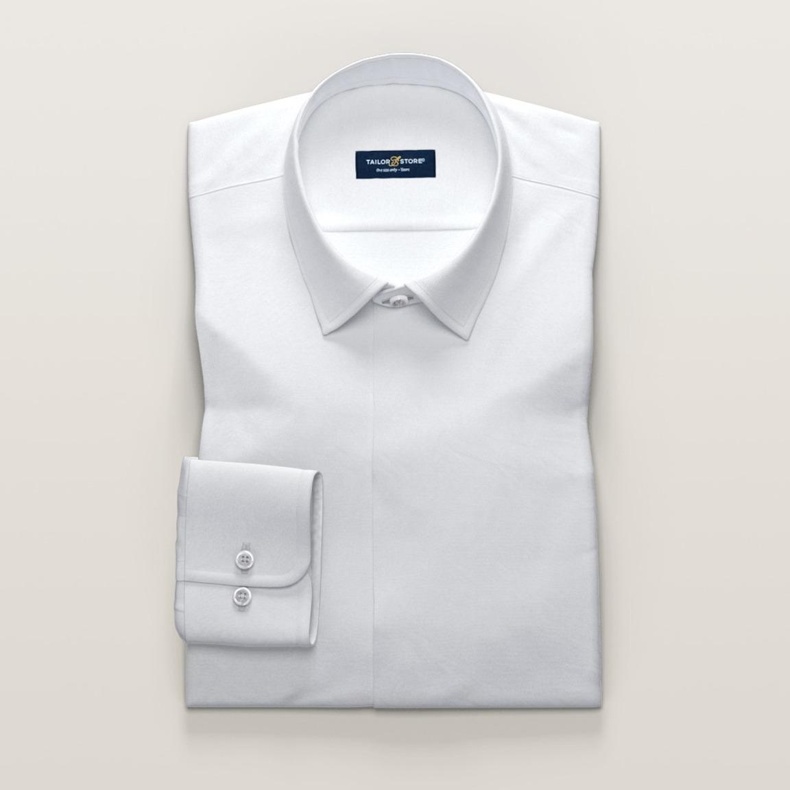 Biała satynowa koszula męska