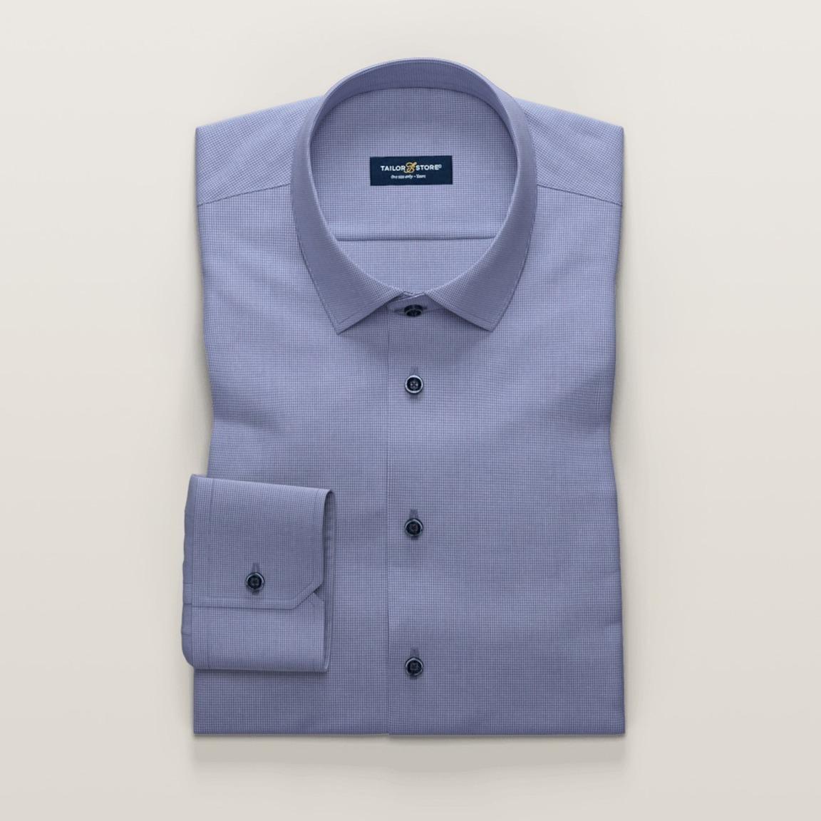 Blåröd businesskjorta i dobbyväv