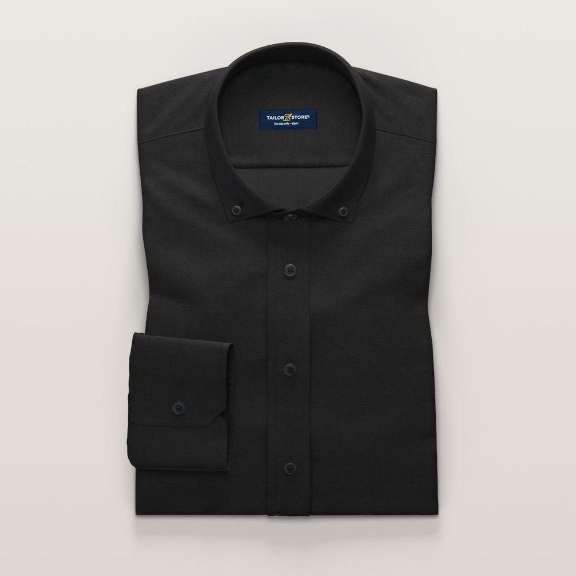 Damskjorta i svart linne