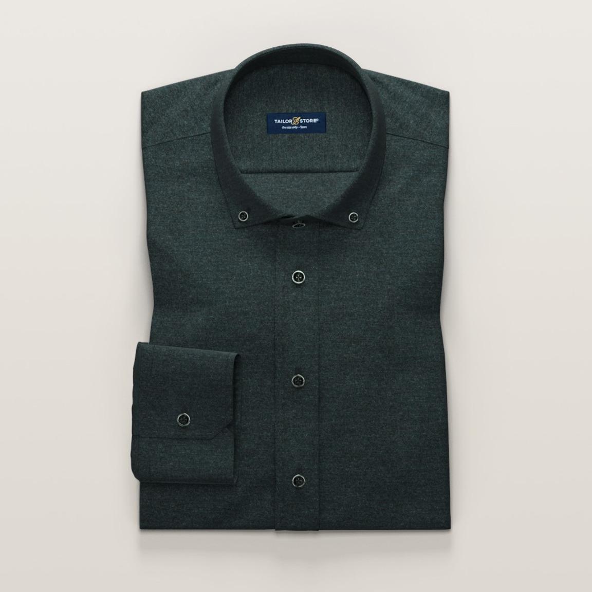 Grünes Flanell-Hemd