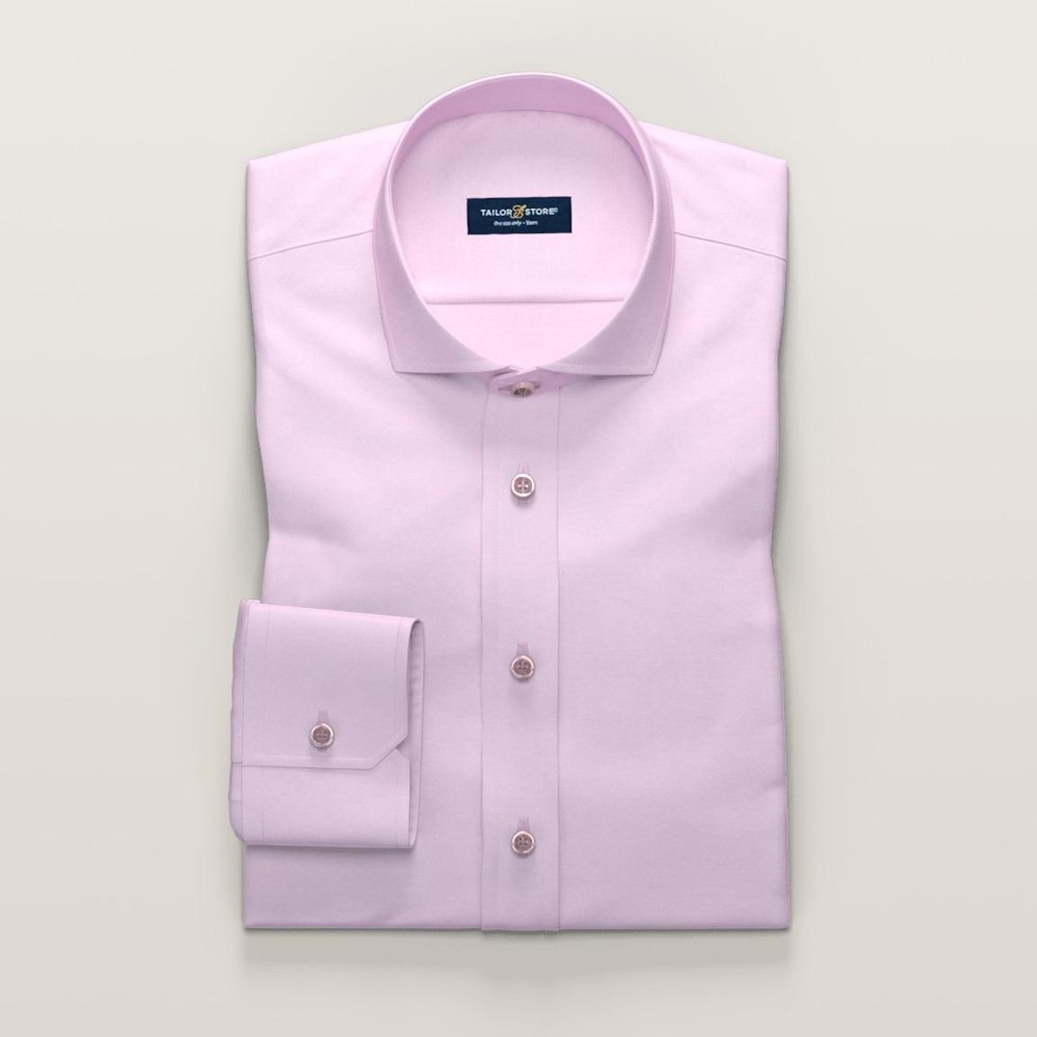 Luftig ljusrosa businesskjorta i dobbyväv