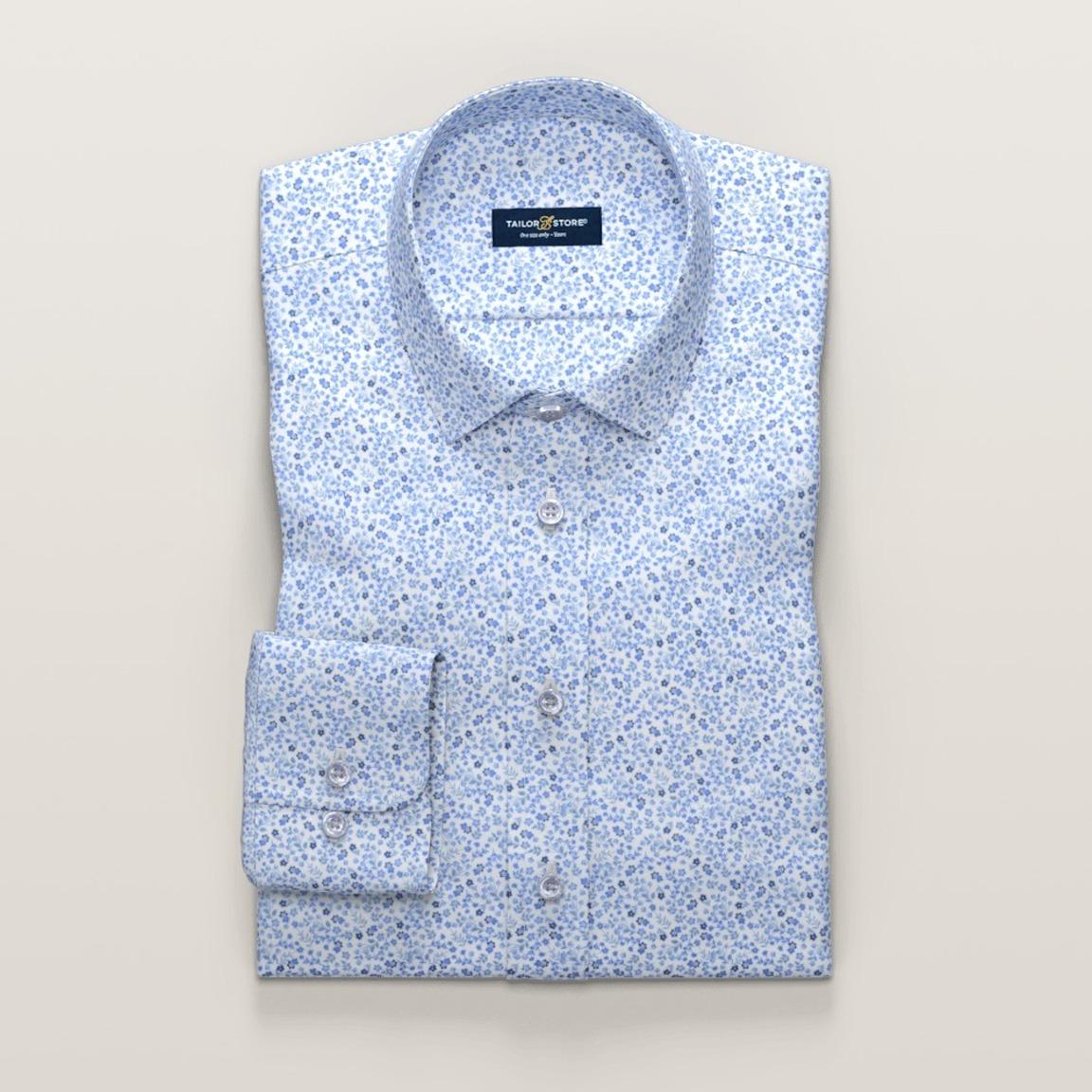 Light blue printed dress shirt