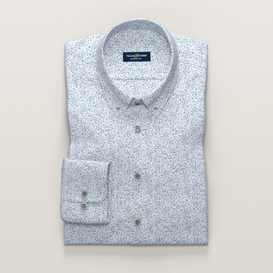 Dimmgrön småblommig skjorta