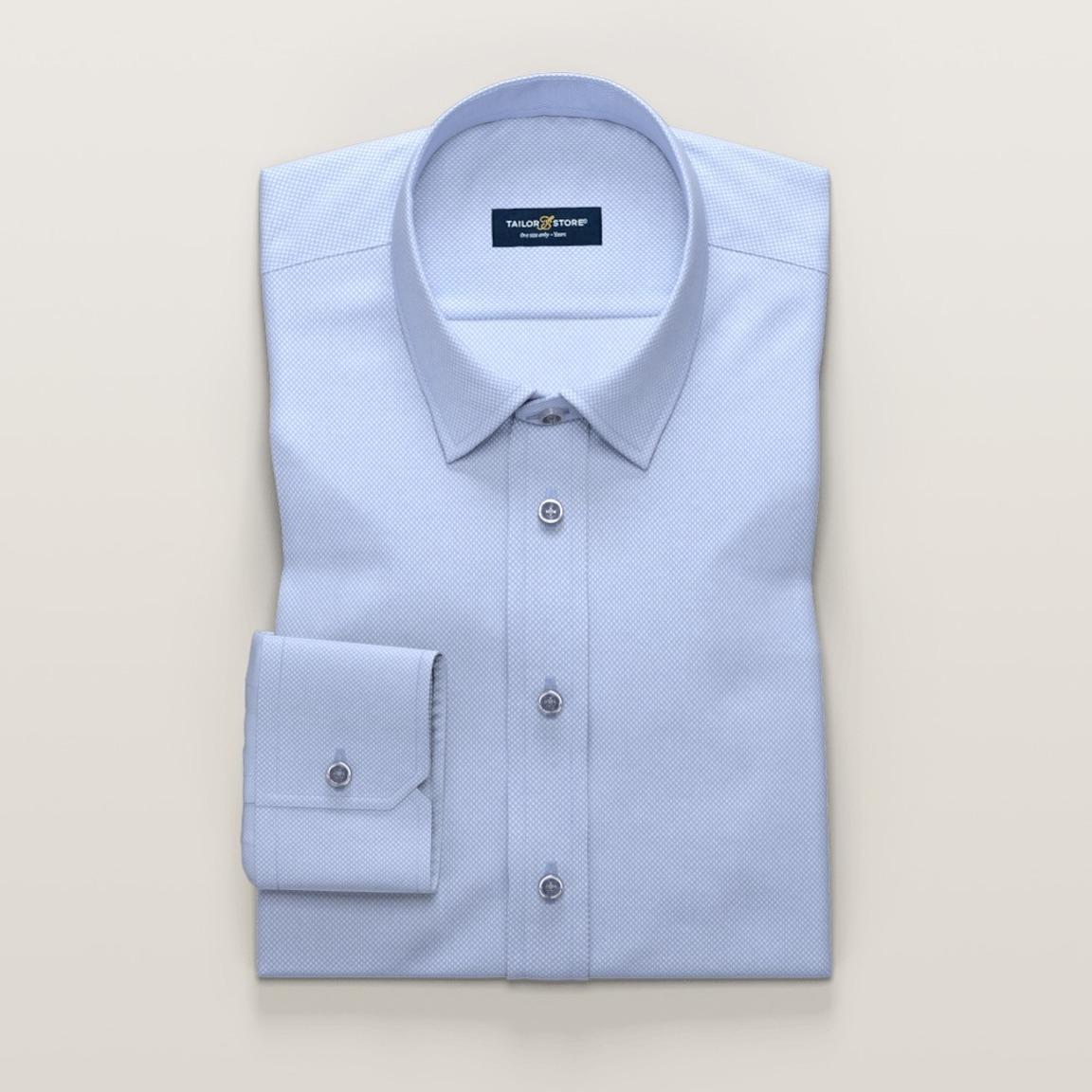 Business shirt in light blue dobby