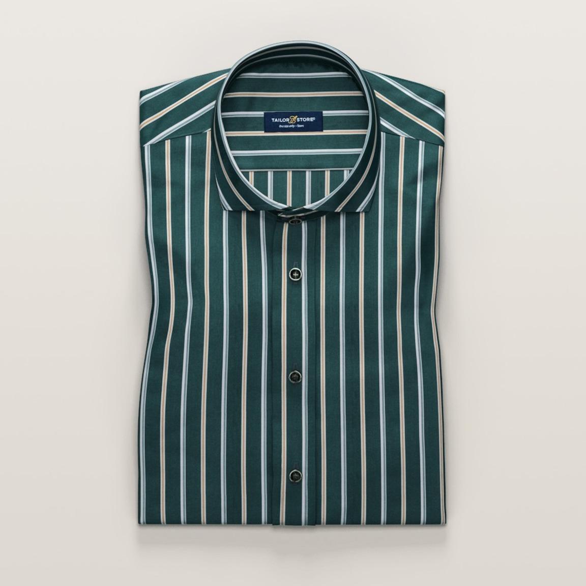 Grönrandig kortärmad businesskjorta