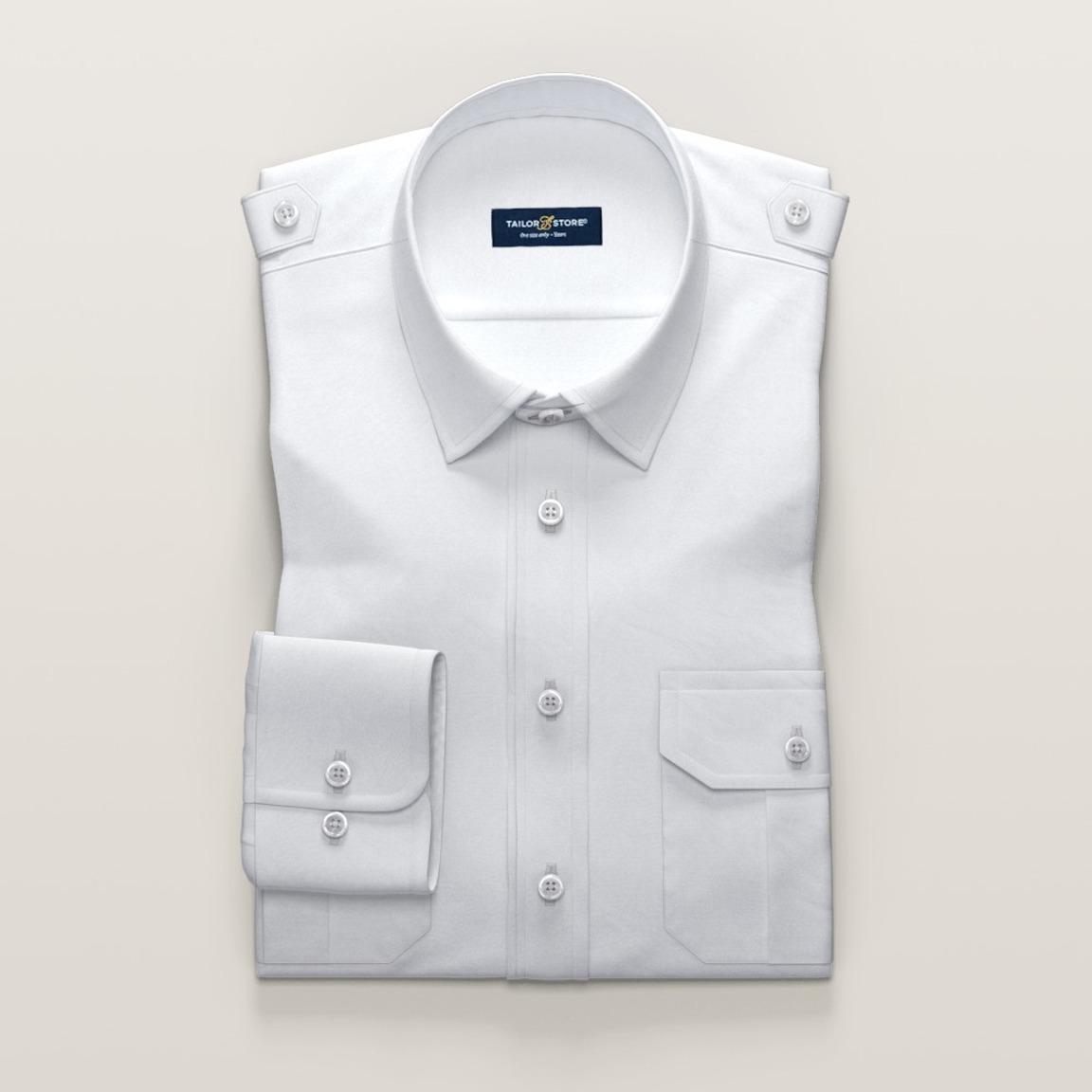 White women's pilot shirt