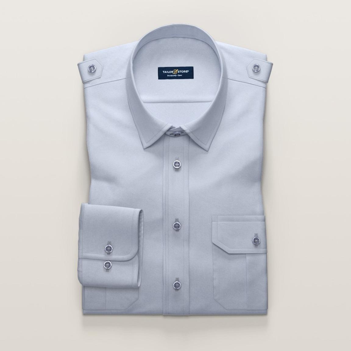 Light blue men's pilot shirt