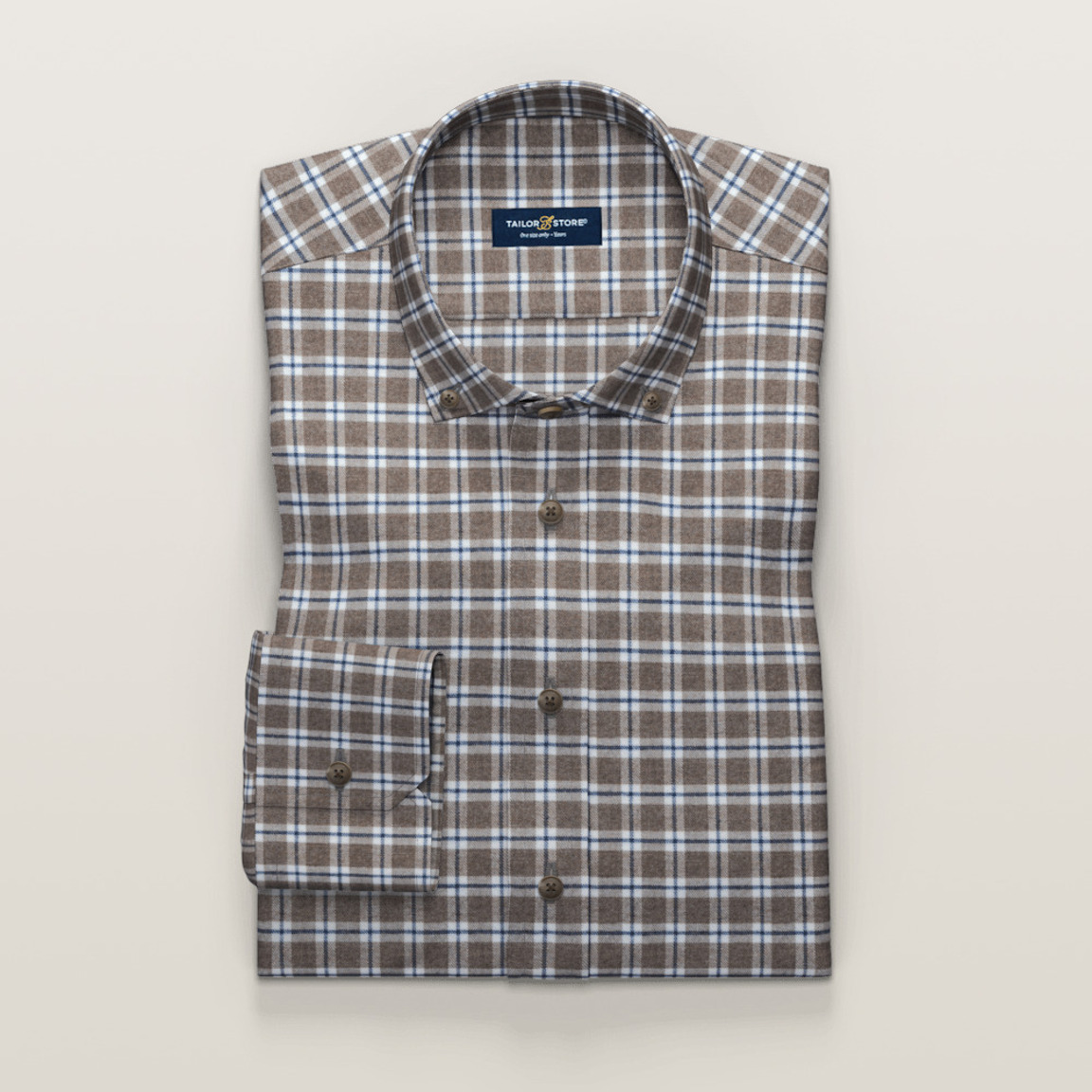 Brown flannel shirt