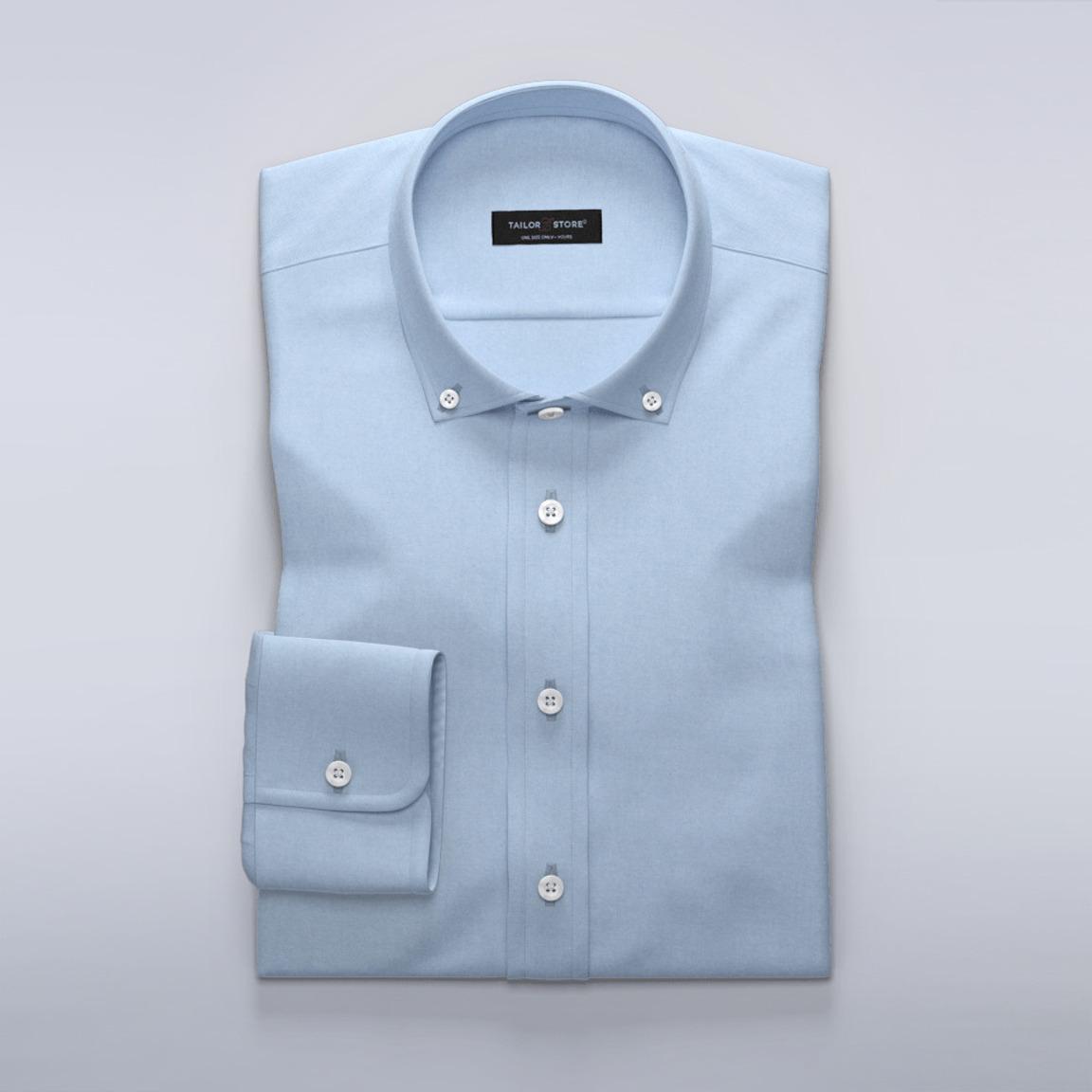 Chemise en oxford bleu pâle délavée