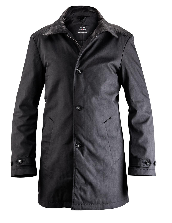 Manteau car classique en noir sur mesure