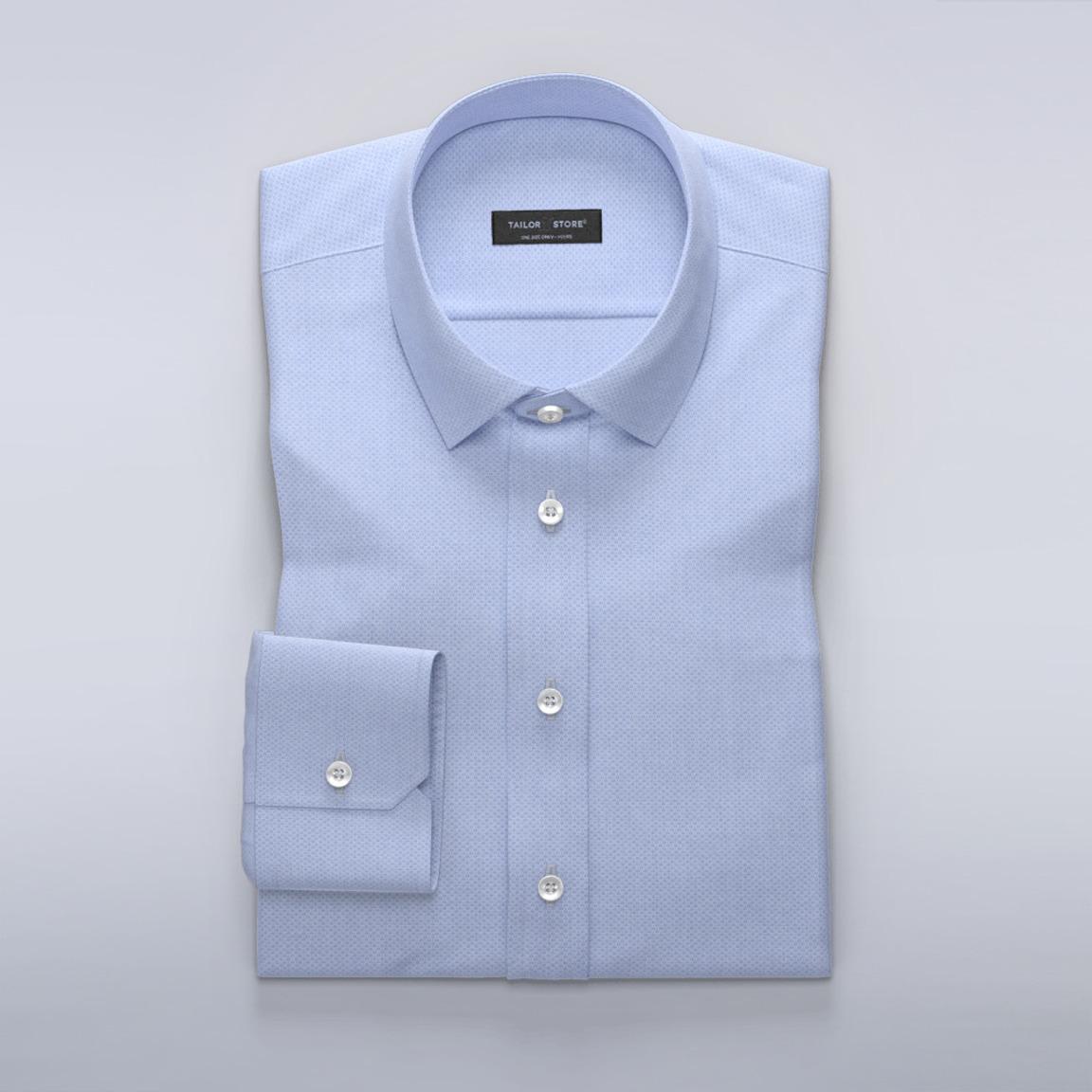 Lichtblauw slim fit overhemd
