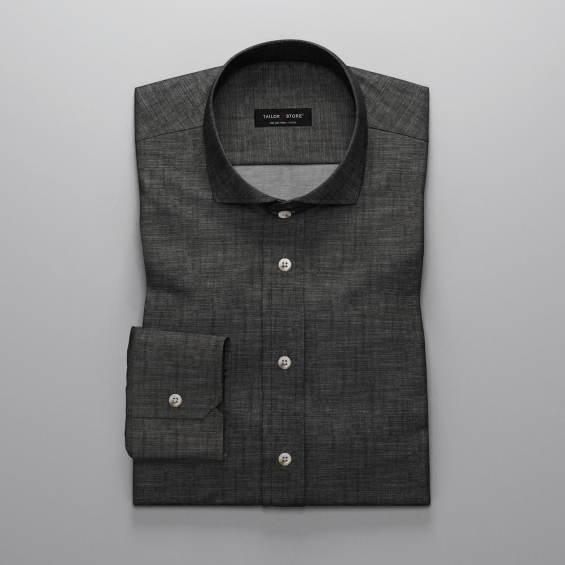 Zwart Chambray overhemd