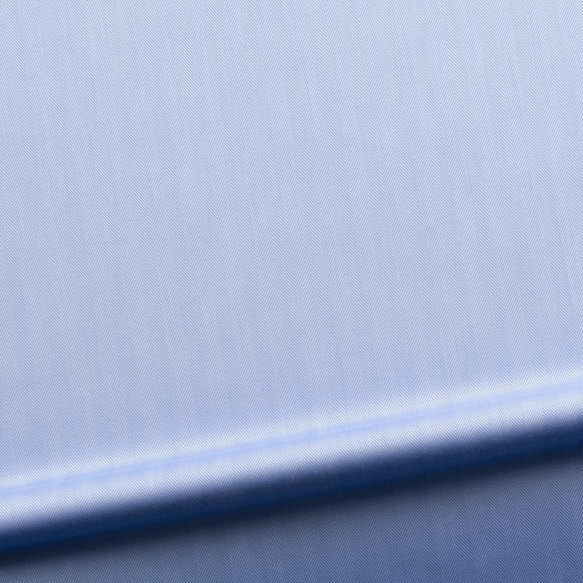 Business-Hemd für Damen aus luxuriösem blauem Fischgrät-Gewebe