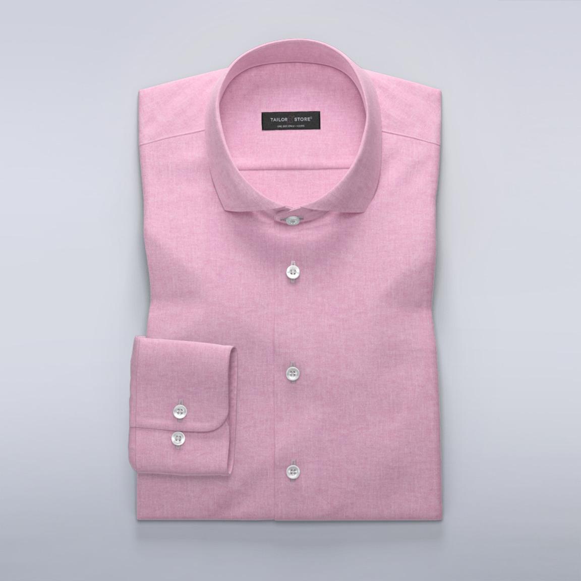 Lyserosa skjorte i bomull/lin