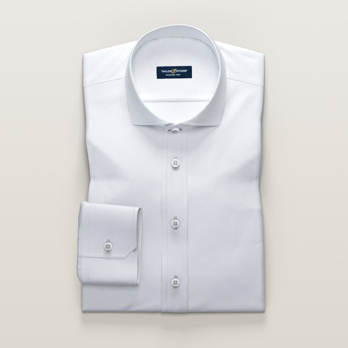White Oxford shirt with cut-away collar