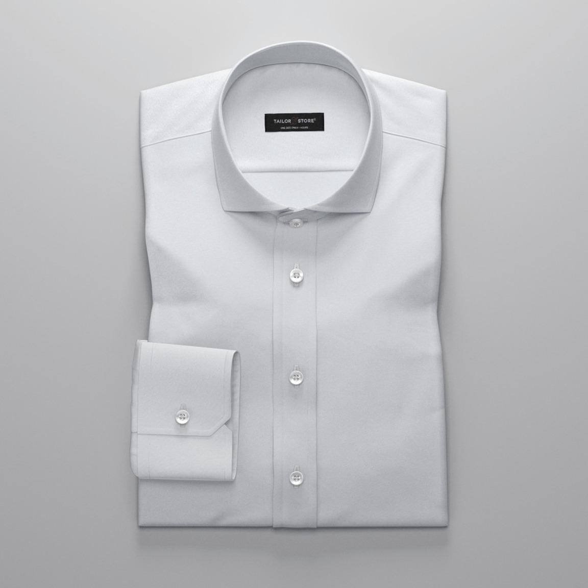 Weißes Oxfordhemd mit Cut-Away Kragen