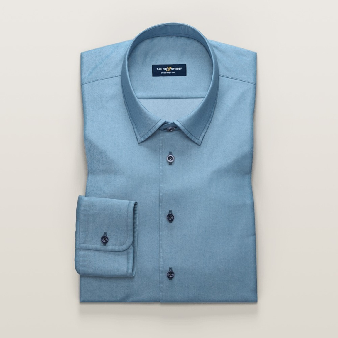 Light blue classic denim dress shirt