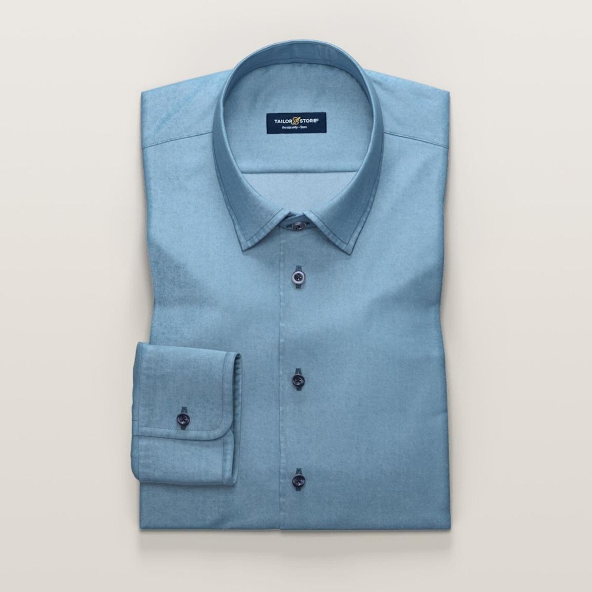 Chemise business décontractée en bleu clair