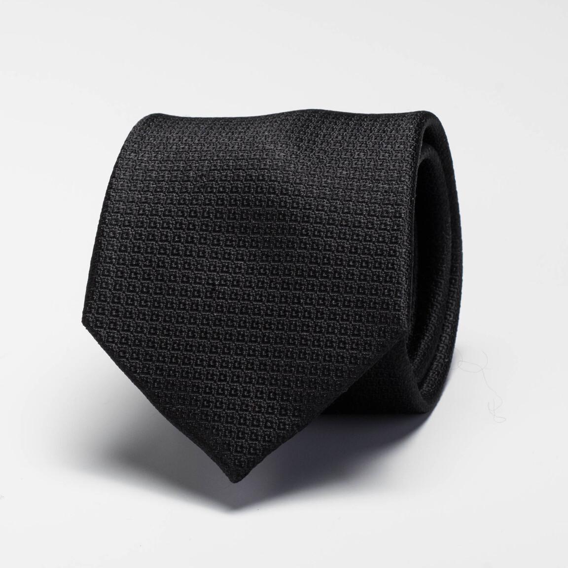 Cravate noire en soie