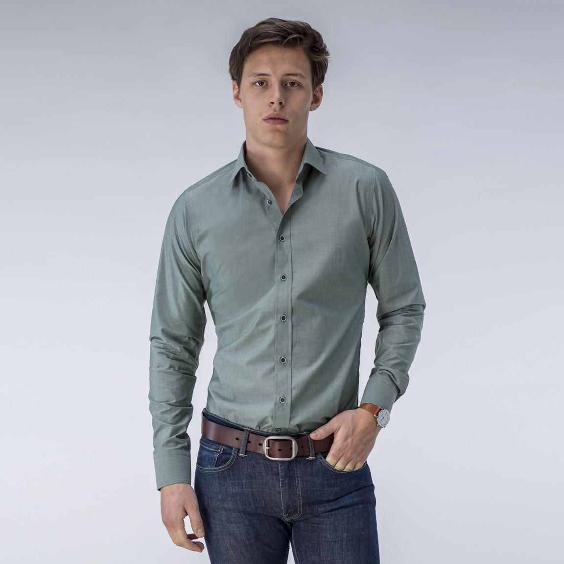 Donkergroen Overhemd.Donkergroen Overhemd Tailor Store