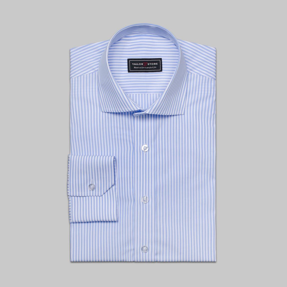 Gestreept overhemd in lichtblauw/wit