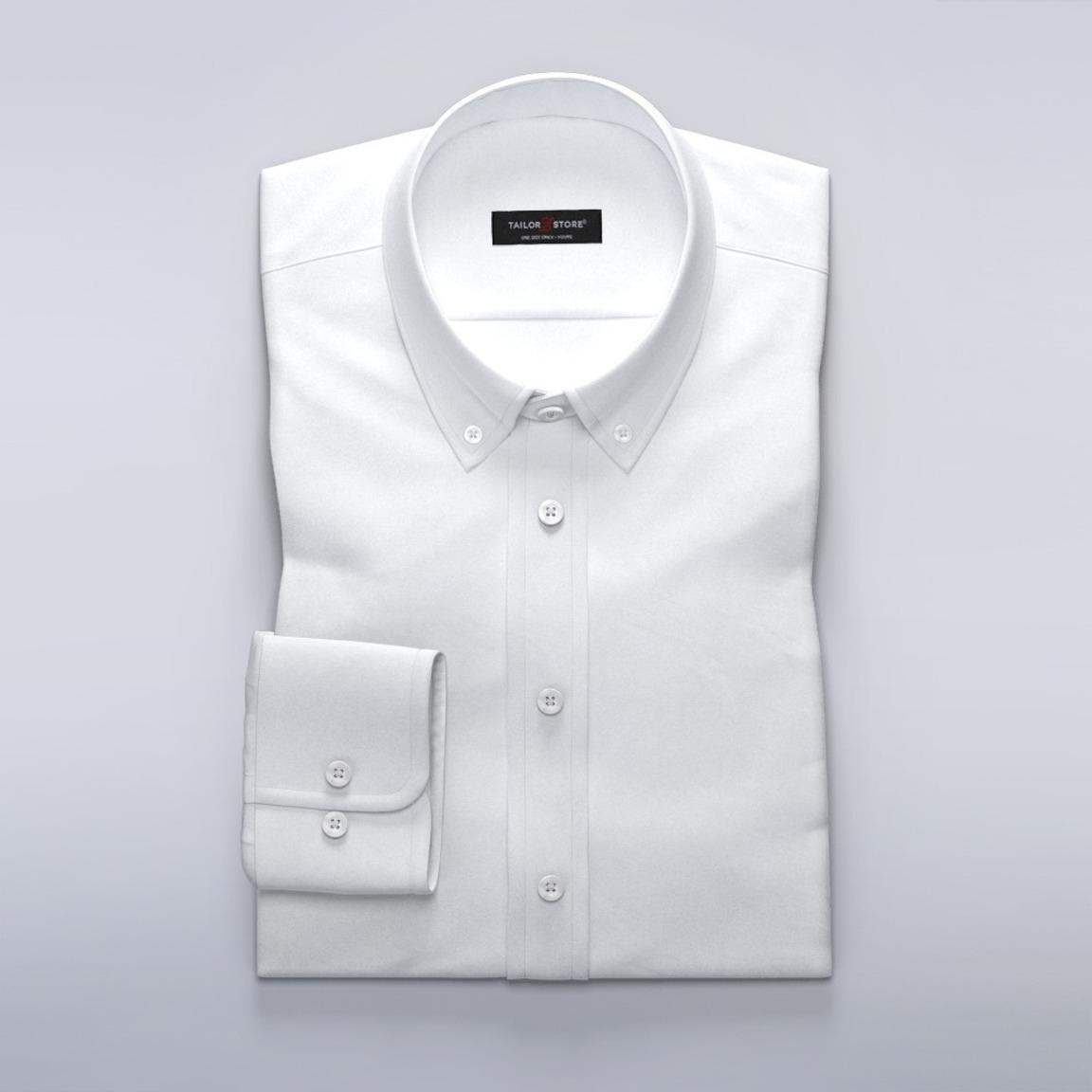 Business casual overhemd in zwaar-geborsteld twill
