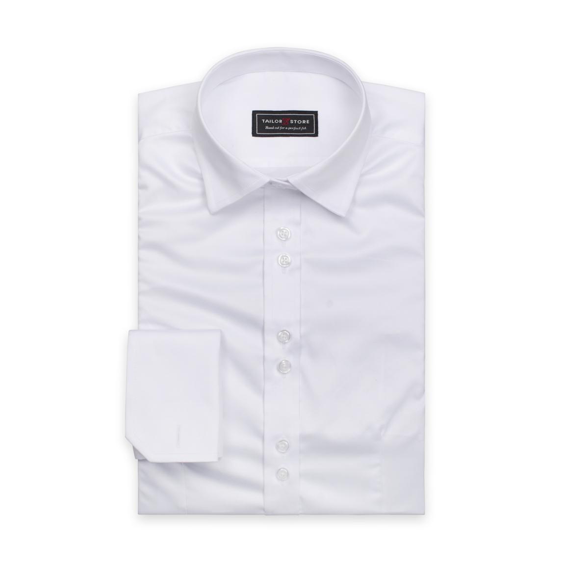 White satin cotton women´s shirt