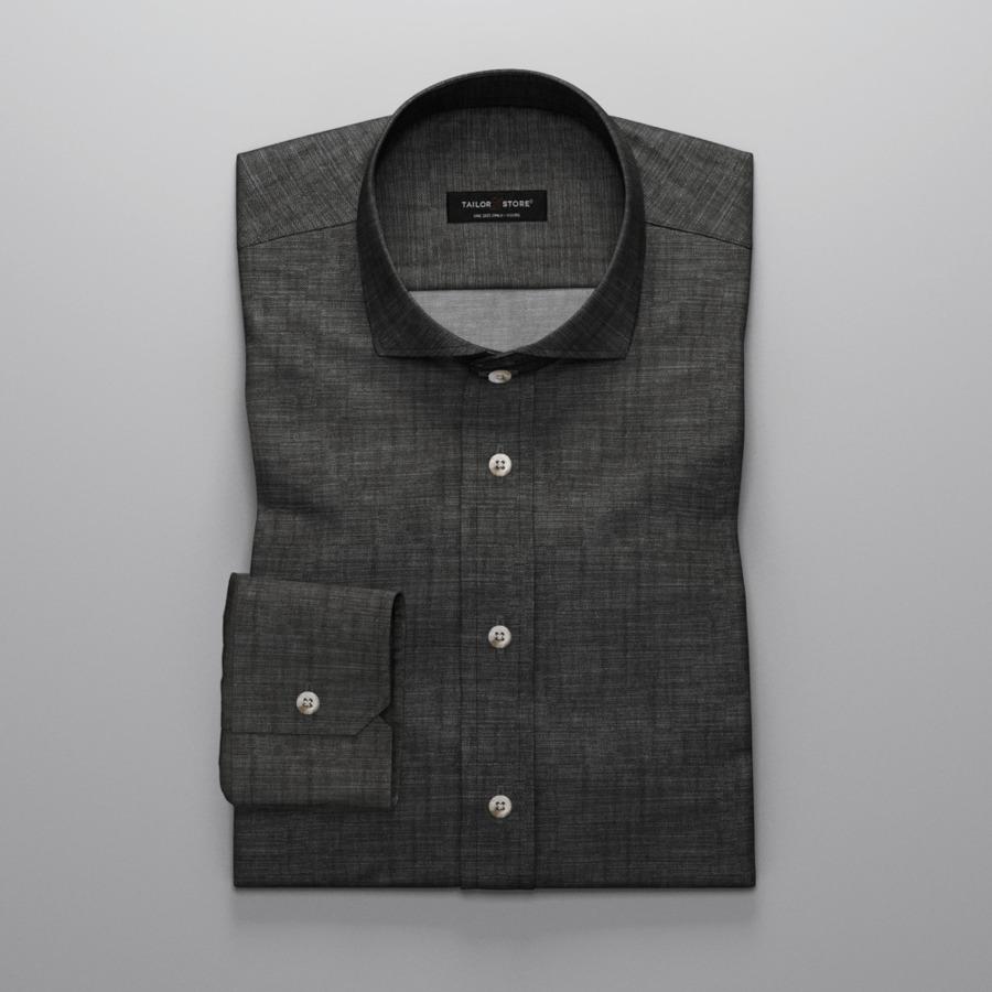 Chemise noire en chambray